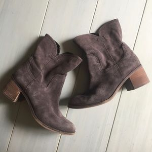 Frano Sarto Leather Mission Boots in Gray